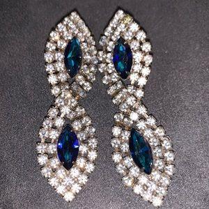 Vintage rhinestone statement earrings
